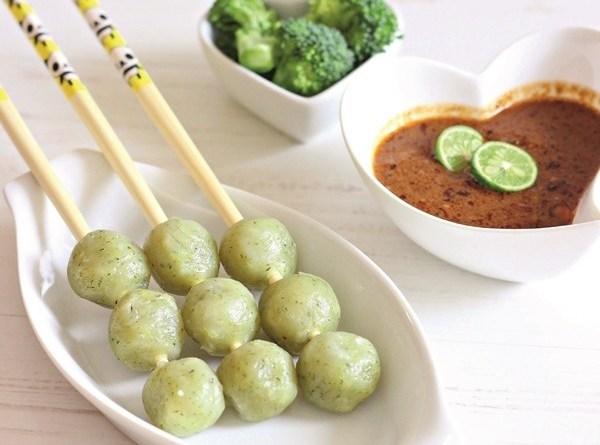 cilok ayam brokoli